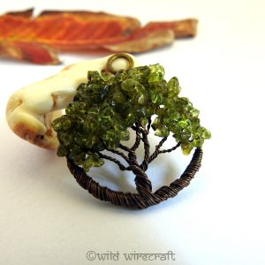 Tree of Life pendant Peridot